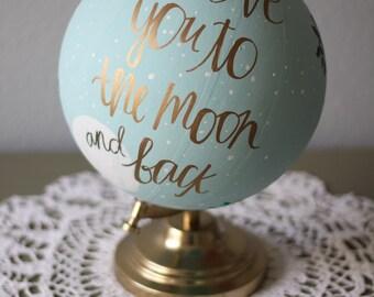 To the Moon Globe