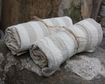 Striped linen towel, softened linen bath towel, sauna towel, beach sheet, bath sheet, large bath towel, linen beach towel, striped towel