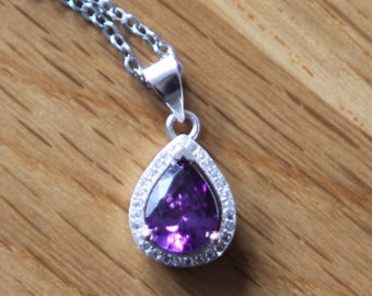 Disney Sofia The First Amulet Inspired Necklace  Austria Purple Crystal Necklace Sofia necklace