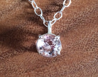 SALE - Morganite Necklace - Ready to Ship