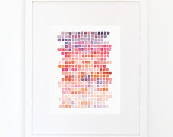 Color Shift in Violet - Watercolor Art Print