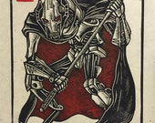 Items similar to General Grievous Block Print on Etsy