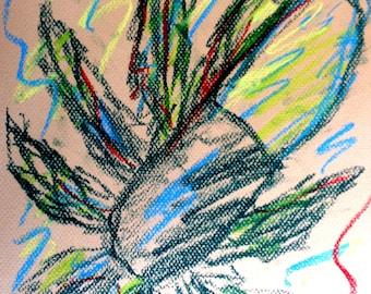 Original pastel sketch from Artisan - Is Pot Better Than Prozac?