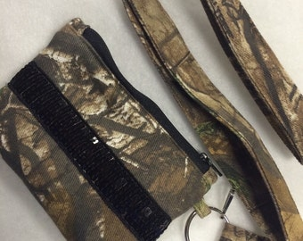 Realtree Camo Camouflage Coin Purse Wallet and Lanyard
