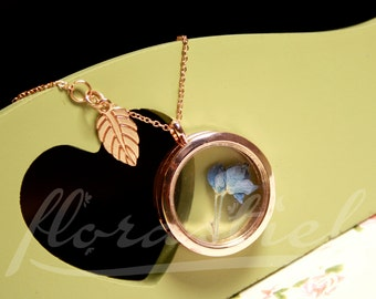"Memory locket necklace ""Lobelia"""