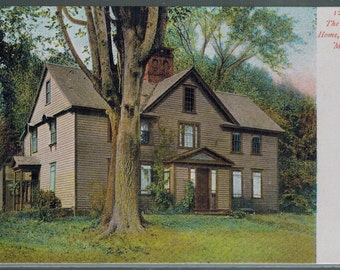 Antique Concord Massachusetts The Alcott Home Undivided Back Unused Postcard