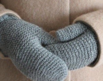 The Petersson pure wool hand knit adult mittens *made to order*