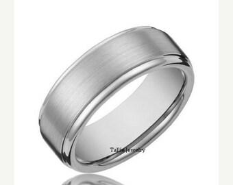 ONSALE8/12-8/31 Mens Wedding Ring ,10K White Gold Wedding Band, Womens Wedding Ring ,Matching Wedding Band,His and Hers Wedding Ring,Matchin