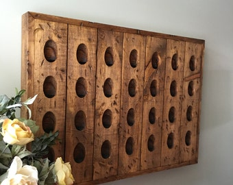 Distressed French Riddling Rack, Wine Rack, Riddling Rack, 28 Bottle Riddling  Rack