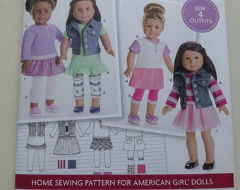"""Simplicity 8041 American Girl 18"""" Doll Clothes pattern - uncut"""