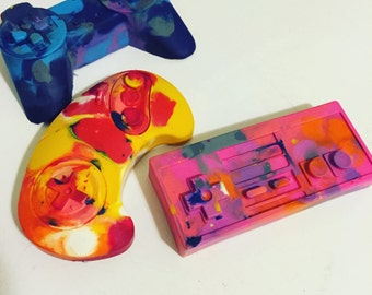 Video Game Controller Marbled Crayons