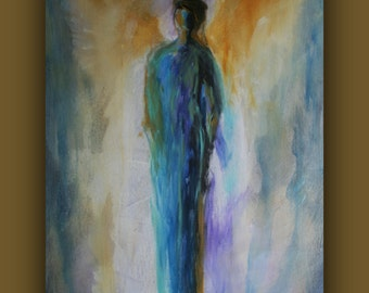 Intuitive Angel Reading With A Channeled Angel Painting Of Your Angel - Includes a personal message from your Angels