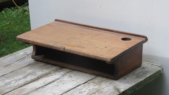 wonderful old wooden student desk top