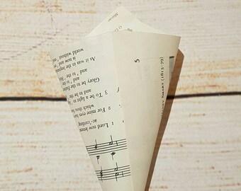 Music Confetti Cone - Wedding Confetti - Table Decoration - Table Confetti - Sheet Music - Wanderlust