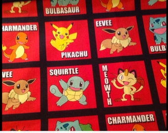 Pokemon Cotton Fabric