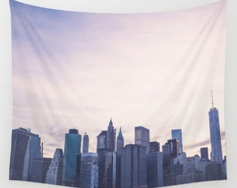 New york city wall tapestry, new york city wall decor, new york city photography, nyc tapestries, apartment decor, dorm decor, nyc skyline