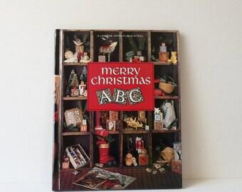 Vintage Merry Christmas ABC Cross Stitch Book Leisure Arts Publication  1993