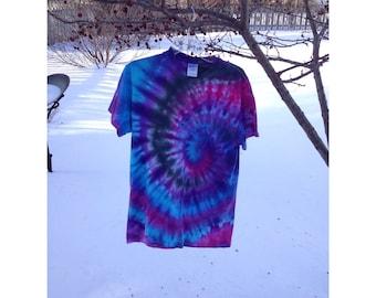 Spiral tie-dye shirt