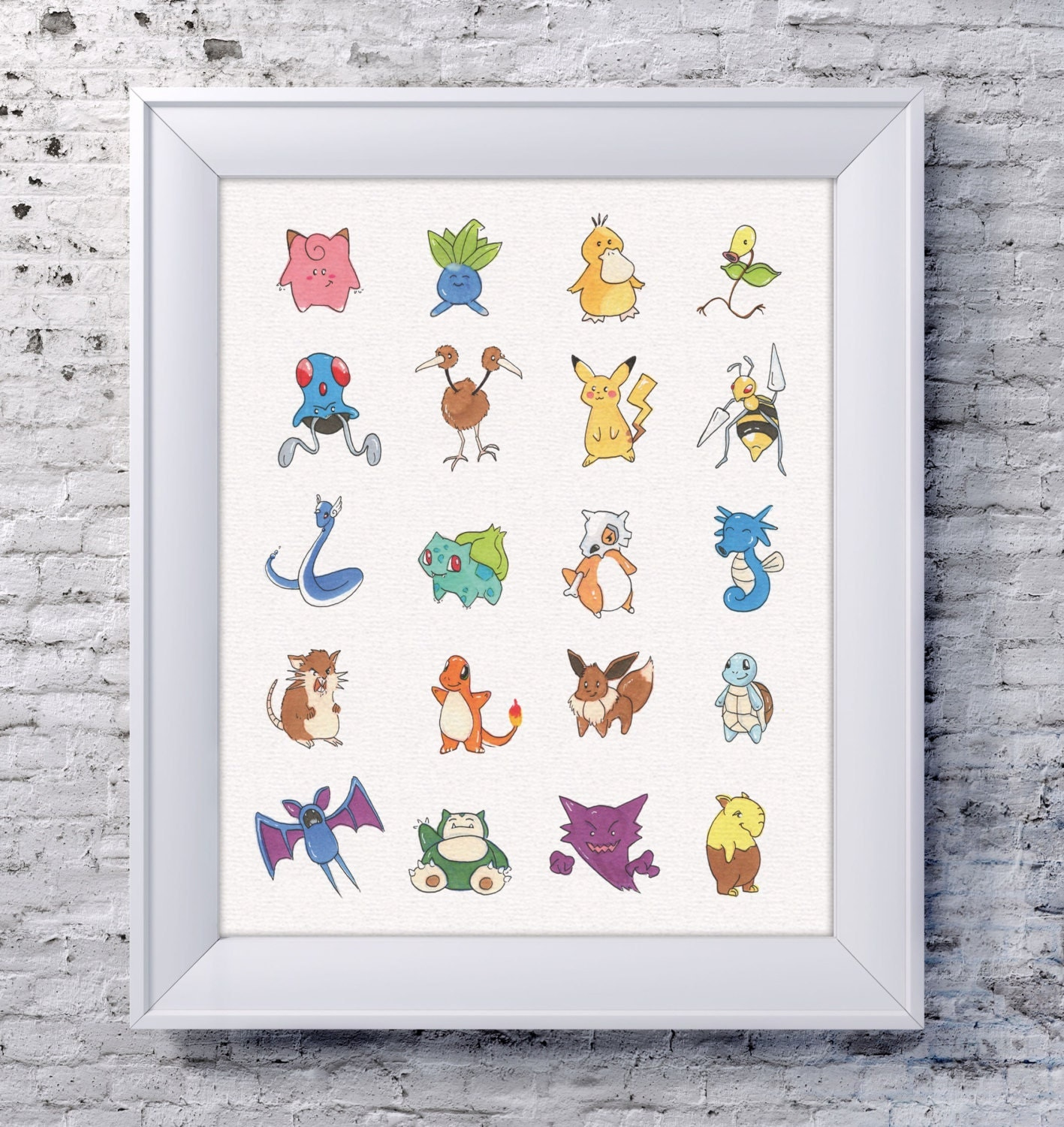 Pokemon Wall Decor 8x10 pokemon wall art pokemon illustration pokemon
