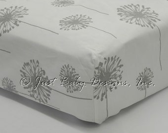 Fitted Crib Sheet - Dandelion Gray