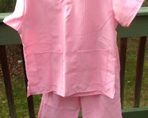 Spirit Girls Pink Doctor Scrubs Size L 10-12 Shirt, Pants ~ Halloween Costume, Dress Up, Role Play, Theater, Reenactment, Costume Party