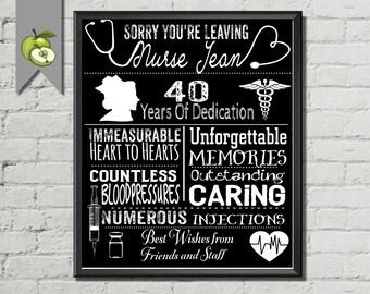 Nurse Retirement Gift Gift for nurse or medic typography
