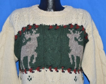 80s Woolrich Moose Sweater Medium
