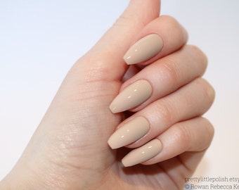 Nude coffin nails, Nail designs, Nail art, Nails, Stiletto nails, Acrylic nails, coffin nails, Fake nails, False nails