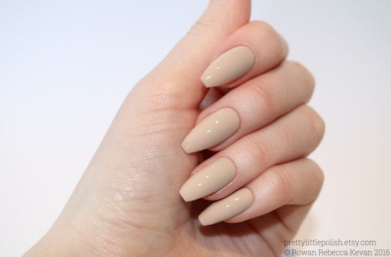 Nude Coffin Nails Nail Designs Nail Art Nails Stiletto