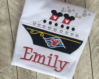 Kids cruise shirt - Personalized Cruise Shirt - Appliqued cruise shirt   - Cruise shirt - Vacation shirt