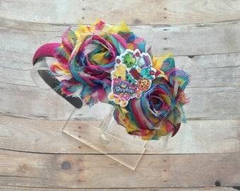 Shopkins Bow-Shopkins Birthday Bow-Shopkins -Shopkins Party-Shopkins Valentines Day Headband-Shopkins Hard Headband-Shopkins Valentine's Day