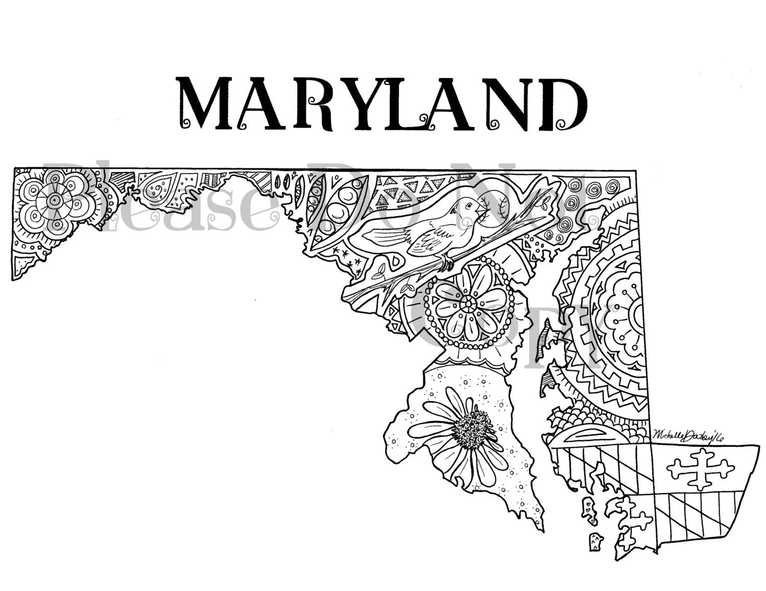 maryland coloring pages - photo#13