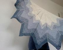Crochet shawl degrade stripe easy pattern pdf