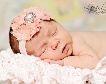 Pink baby headband, baby headband, pink flower headband, pink headband, baby girl headband, adult headband, infant headband, child headband