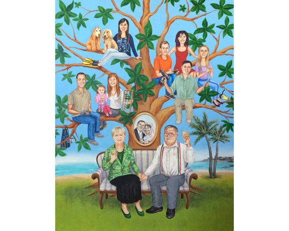 Meaningful Wedding Gift For Parents : 50th Wedding Anniversary gift for parents, personalized Family Tree ...