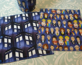 Doctor Who, TARDIS Unpaper Towels, reusable paper towels (set of 8)