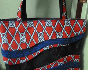 Nautical Knots Sassy Screen Tote