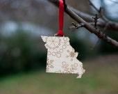 State Snowflake Christmas Ornaments - Missouri