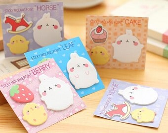 Molang Rabbit Sticky Note Post it Planner Note SN1017MLR