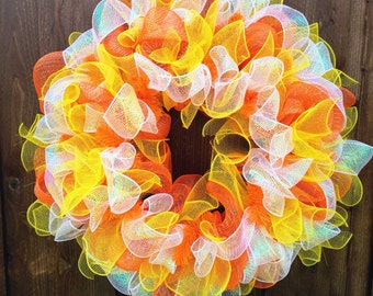 Candy Corn Wreath Etsy