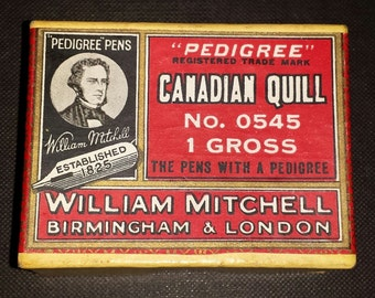 William Mitchell / Canadian Quill / pedigree no. 05451 / gross / boxed nibs/pen nibs