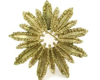 Vintage AVON Sunburst Gold Tone Pin