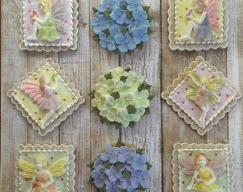 Fairy and Hydrangea Sugar Cookies