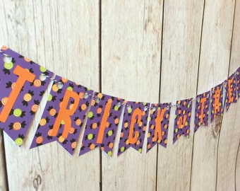 Trick or Treat Banner, Halloween Banner