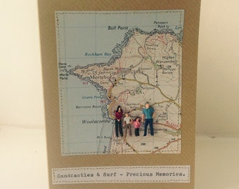 Bespoke Vintage Map Greeting Cards