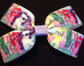 My little pony print boutique hair bow