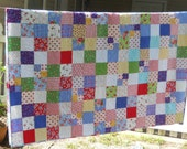 "Custom Order Pam Kitty Final Payment Twin Sized 66 x 84"" Quilt Reserved for Kristen"