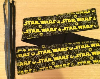 Choose your color of tie Star Wars Logos cross fit Wrist Wraps