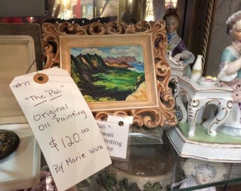 The Pali original oil painting by Marie Ware