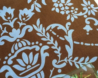 SALE Jennifer Paganelli 1 yd CRAZY LOVE Fabric for Free Spirit Natasha in Brown Half Yard JWP064  Sis Boom 1 Yard oop